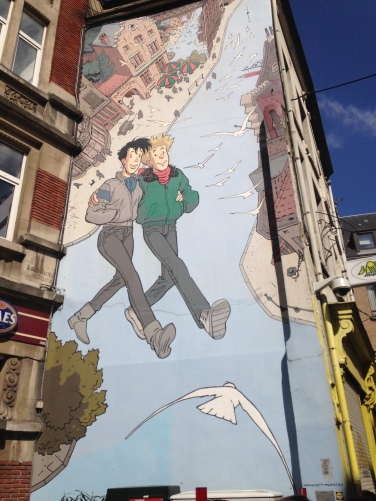 Mural in Brussels