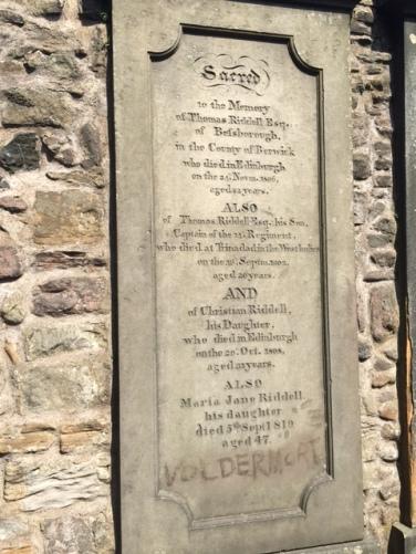 Tom Riddell's grave