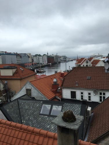 View from my hostel in Bergen, Norway