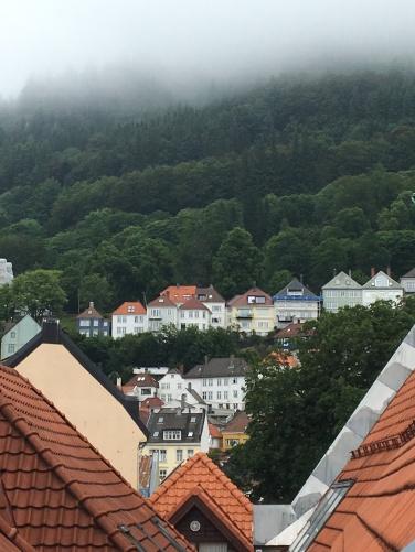 View from my hostel in Bergen, Norway