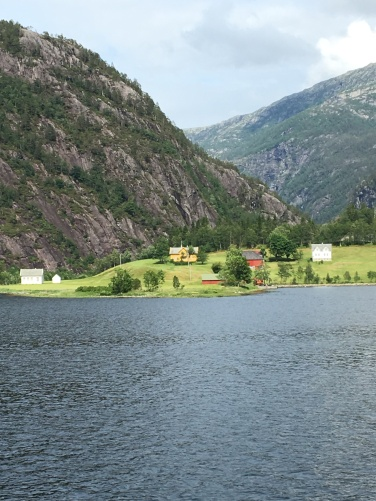 Small village by the fjord