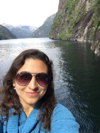 Selfie at the fjord