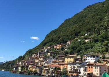 Mountain village on Lake Lugano