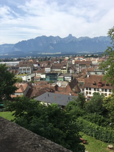 View of Thun from Thun Castle