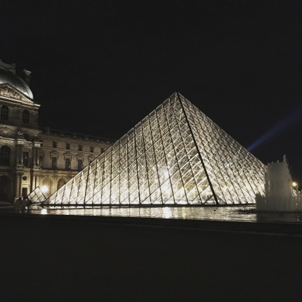 Louvre's entrance