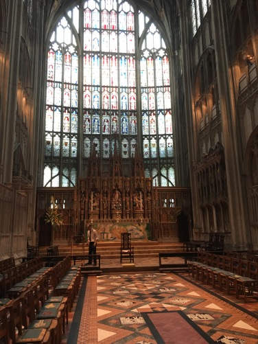 Inside Gloucester Cathedral