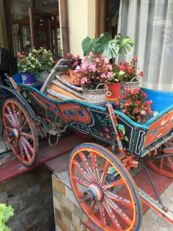 Bulgarian colorful wagon