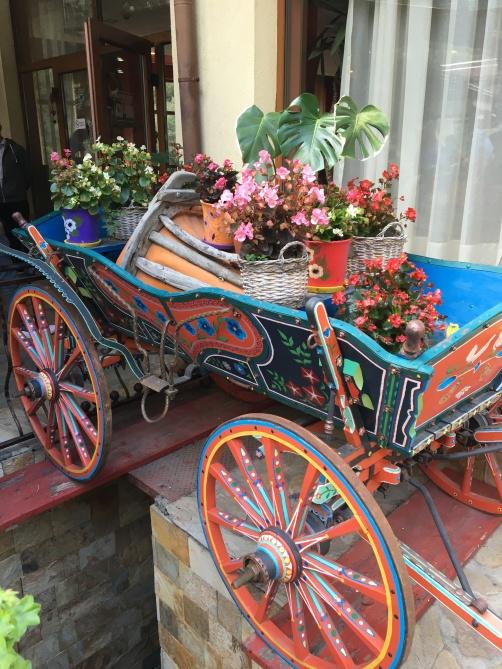 Bulgarian colorful wagon