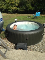 Hot tub at the RV